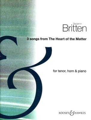 3 Songs From The Heart Of The Matter BRITTEN Partition laflutedepan