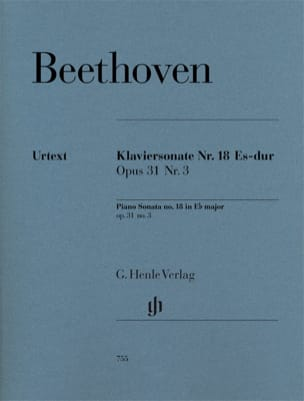 Sonate Pour Piano N° 18 En Mi Bémol Majeur Opus 31 n° 3 laflutedepan