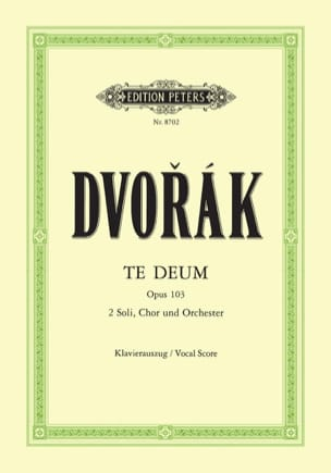 DVORAK - Te Deum Opus 103 - Partition - di-arezzo.co.uk