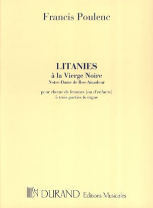 Litanies A la Vierge Noire POULENC Partition Chœur - laflutedepan
