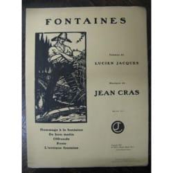 Fontaines Jean Cras Partition Mélodies - laflutedepan