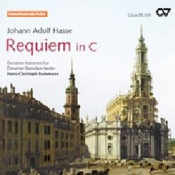 Requiem en Do Johann Adolf Hasse Partition Chœur - laflutedepan