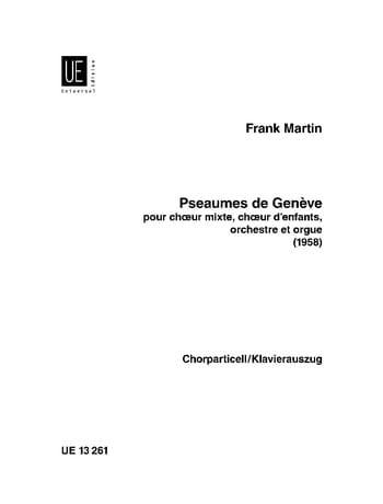 Psaumes de Genève - Frank Martin - Partition - laflutedepan.com