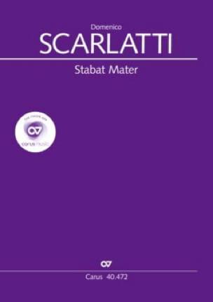 Stabat Mater. Choeur seul - SCARLATTI - Partition - laflutedepan.com