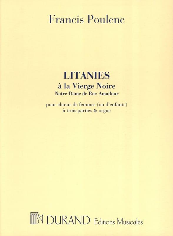 Litanies A la Vierge Noire - POULENC - Partition - laflutedepan.com