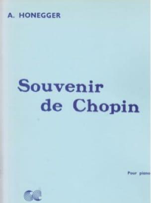 Souvenir De Chopin - HONEGGER - Partition - Piano - laflutedepan.com