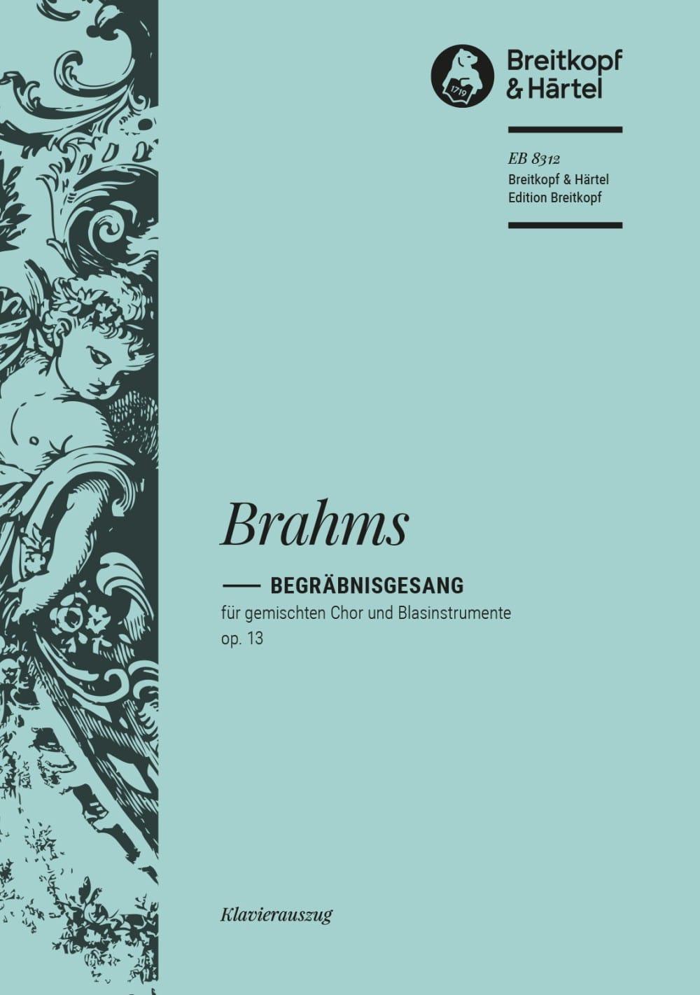 Begräbnisgesang Op. 13 - BRAHMS - Partition - Chœur - laflutedepan.com
