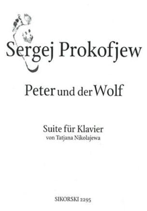Pierre et le Loup PROKOFIEV Partition Piano - laflutedepan