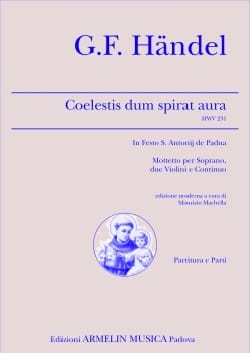 Coelestis Dum Spirat Aura HWV 231 HAENDEL Partition laflutedepan