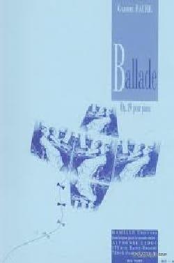 Ballade Opus 19 FAURÉ Partition Piano - laflutedepan