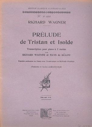 Prélude de Tristan et Isolde. Piano WAGNER Partition laflutedepan