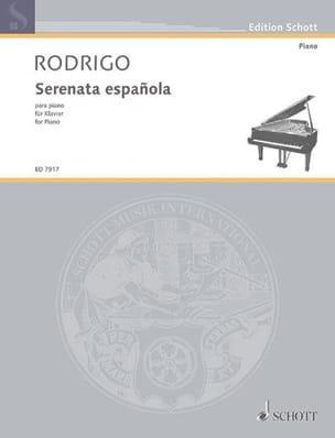 Serenata española 1931 RODRIGO Partition Piano - laflutedepan