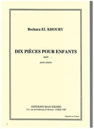 Pièces Pour Enfants Op. 12 Khoury Bechara El Partition laflutedepan