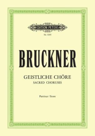 Geistliche Chöre. BRUCKNER Partition Chœur - laflutedepan