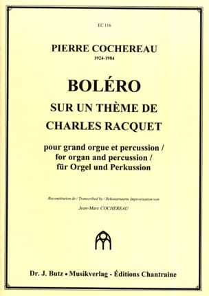 Boléro Pierre Cochereau Partition Orgue - laflutedepan