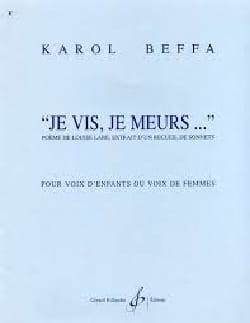 Je Vis, je meurs Karol Beffa Partition Chœur - laflutedepan