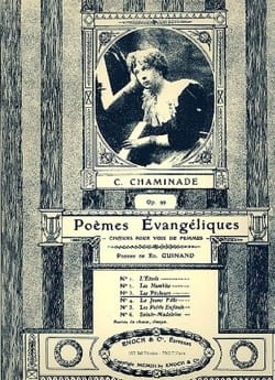 Les Pêcheurs Op. 99-3 Cécile Chaminade Partition Chœur - laflutedepan