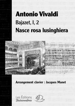 VIVALDI - Nasce rosa lusinghiera. Bajazet - Partition - di-arezzo.co.uk