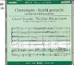 Messe En Si mineur BWV 232. 2 CD Basse CHOEUR BACH laflutedepan