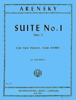 Suite N°1 Opus 15. 2 Pianos Anton Arensky Partition laflutedepan