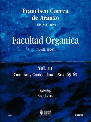Facultad Organica Volume 11 de Arauxo Francisco Correa laflutedepan
