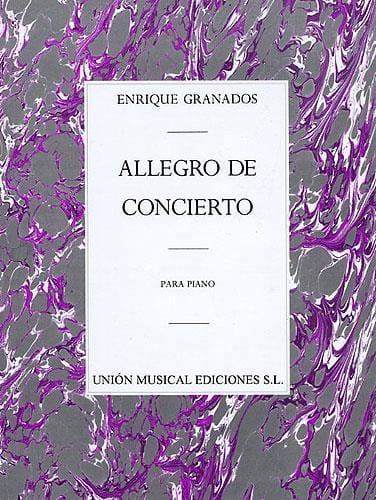 Allegro De Concierto opus 46 - GRANADOS - Partition - laflutedepan.com