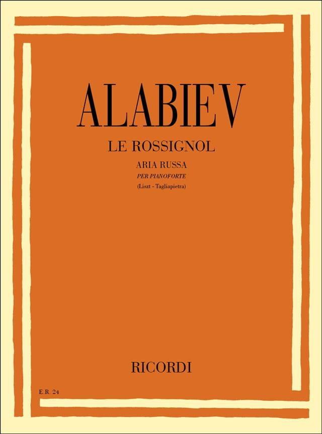 Le Rossignol - Alabiev / Liszt - Partition - Piano - laflutedepan.com