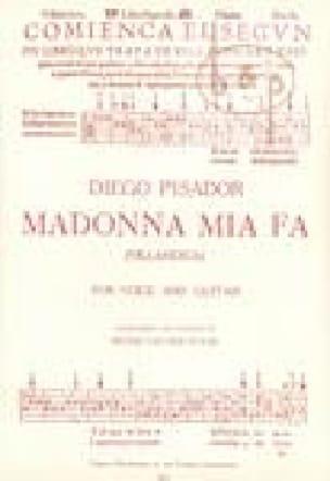 Madonna Mia Fa - Diego Pisador - Partition - laflutedepan.com
