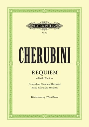 Requiem En Ut Mineur CHERUBINI Partition Chœur - laflutedepan
