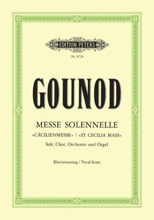 Messe Solennelle Sainte Cécile GOUNOD Partition Chœur - laflutedepan