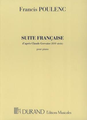 Suite Française POULENC Partition Piano - laflutedepan
