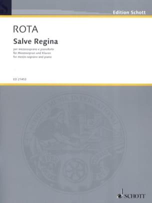 Salve Regina ROTA Partition Mélodies - laflutedepan