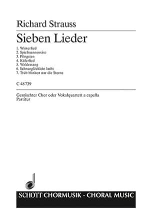 7 Lieder Woo Av 67 Richard Strauss Partition Chœur - laflutedepan