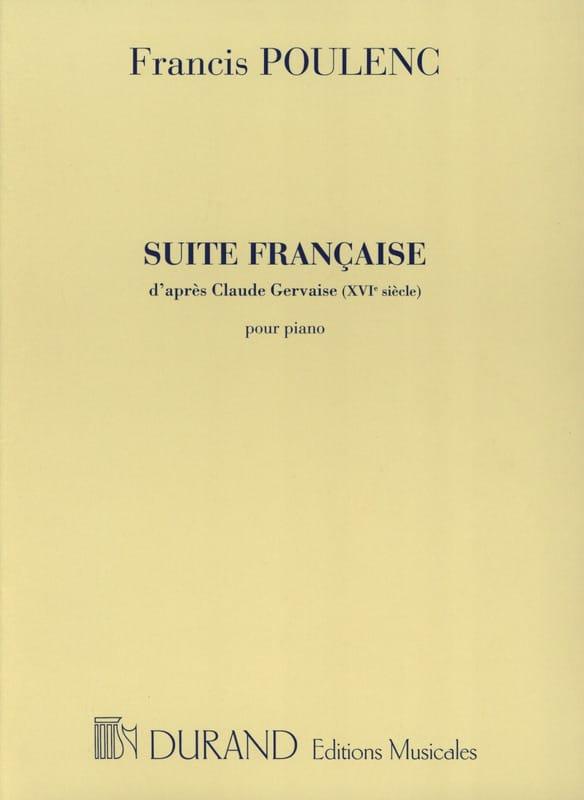 Suite Française - POULENC - Partition - Piano - laflutedepan.com