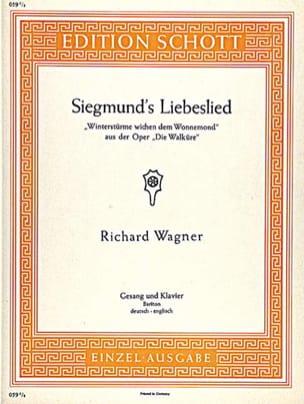 Siegmund's Liebeslied. Walküre WAGNER Partition Opéras - laflutedepan