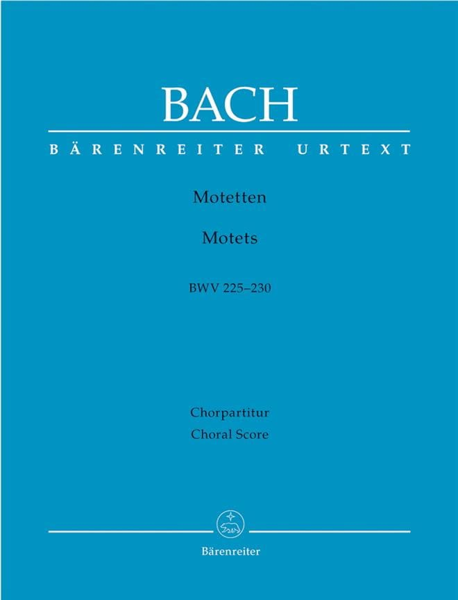 Motets BWV 225 A 230. Choeur Seul - BACH - laflutedepan.com