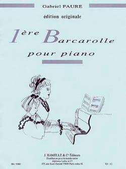 Barcarolle N°1 Opus 26 FAURÉ Partition Piano - laflutedepan