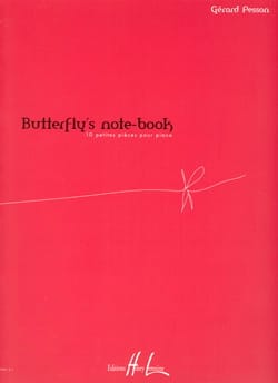 Butterfly's Note-Book Gérard Pesson Partition Piano - laflutedepan