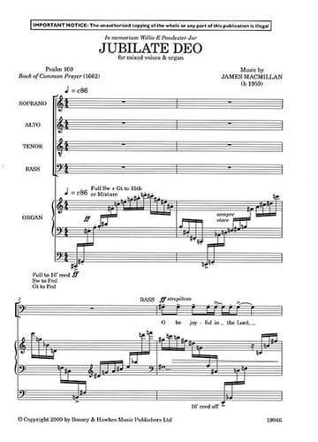 Jubilate Deo - James Macmillan - Partition - Chœur - laflutedepan.com
