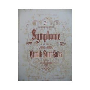 Symphonie 3 Opus 78. 2 Pianos 8 Mains - SAINT-SAËNS - laflutedepan.com