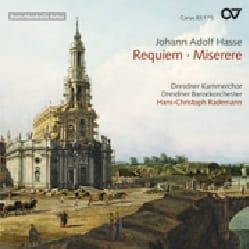 Requiem. Miserere Johann Adolf Hasse Partition Chœur - laflutedepan