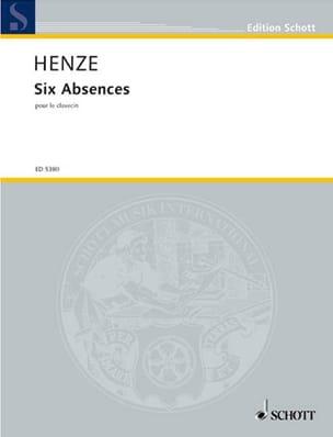 6 Absences Hans Werner Henze Partition Clavecin - laflutedepan