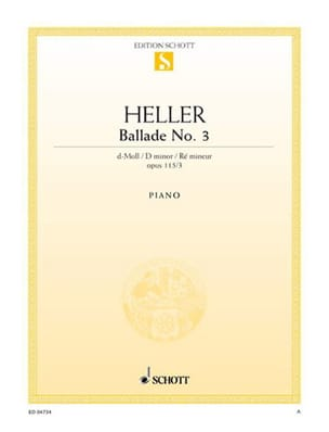 Stephen Heller - Ballad N ° 3 In D Minor Op 115-3 - Partition - di-arezzo.co.uk