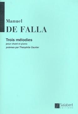 3 Mélodies. DE FALLA Partition Mélodies - laflutedepan