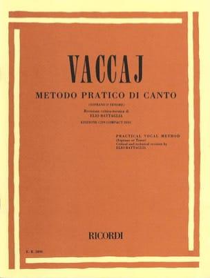Metodo Pratico. Voix Haute Nicola Vaccai Partition laflutedepan