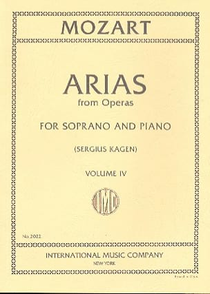 40 Arias from Operas Soprano Volume 4 MOZART Partition laflutedepan