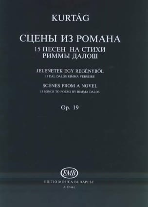 Scènes de Roman Op. 19 KURTAG Partition laflutedepan