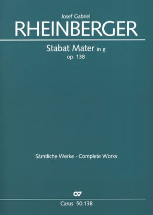 Stabat Mater en Sol Mineur Opus 138 RHEINBERGER Partition laflutedepan