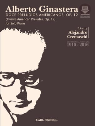 12 American Preludes op. 12 Complet GINASTERA Partition laflutedepan