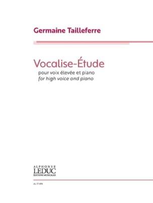 Vocalise-Etude - Voix élevée Germaine Tailleferre laflutedepan